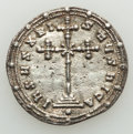 Ancients:Byzantine, Ancients: Constantine VII Porphyrogenitus and Romanus II (AD945-963). AR miliaresion (24mm, 2.16 gm, 12h). NGC(photo-certificate) Choi...