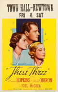 """Movie Posters:Drama, These Three (United Artists, 1936). Window Card (14"""" X 22"""").. ..."""
