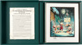 Memorabilia:Disney, Carl Barks A Christmas Trimming: A Progressive Set of Proofs Signed Limited Edition Lithograph Print B...