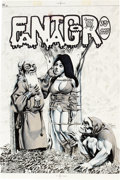 Original Comic Art:Covers, Richard Corben Fantagor #4 Cover Original Art (Last Gasp,1972)....