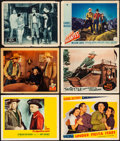 """Movie Posters:Western, Border Vigilantes & Other Lot (Paramount, 1941). Overall:Fine/Very Fine. Lobby Cards (6) (11"""" X 14""""). Western.. ....."""