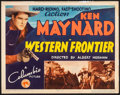 "Movie Posters:Western, Western Frontier (Columbia, 1935). Fine+. Title Lobby Card (11"" X14""). Western.. ..."