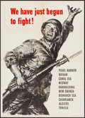 "Movie Posters:War, World War II Propaganda (U.S. Government Printing Office, 1943). OWI Poster # 62 (20"" X 28"") ""We Have Just Begun To Fight!"" ..."
