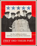 """Movie Posters:War, World War II Propaganda (U.S. Government Printing Office, 1943). OWI Poster No. 42 (22"""" X 28"""") """"They Did Their Part."""" War.. ..."""