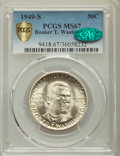Commemorative Silver, 1949-S 50C Booker T. Washington MS67 PCGS Secure. CAC. PCGS Population: (71/0 and 2/0+). NGC Census: (60/0 and 0/0+). CDN: ...