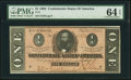 Confederate Notes:1864 Issues, T71 $1 1864 PF-11 Cr. UNL.. ...