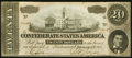 Confederate Notes:1864 Issues, T67 $20 1864 PF-22 Cr. 522.. ...