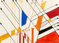 Post-War & Contemporary:Contemporary, Alexander Calder (1898-1976). Untitled, 1963. Gouache andink on paper. 22-5/8 x 31 inches (57.5 x 78.7 cm). Signed and ...