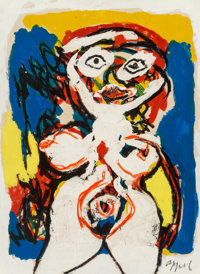 Karel Appel (1921-2006) Woman Gouache on Arches paper 30 x 22-1/8 inches (76.2 x 56.2 cm) Sign