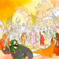 Animation Art:Production Drawing, The Greatest Adventure: Stories from the Bible PitchIllustration (Hanna-Barbera, 1985)....