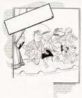 Animation Art:Production Drawing, Wait Till Your Father Gets Home Promo Illustration OriginalArt (Hanna-Barbera, 1972).... (Total: 2 Items)