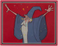 Animation Art:Production Cel, The Sword in the Stone Merlin Production Cel Setup (WaltDisney, 1963)....