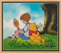 Animation Art:Production Cel, The New Adventures of Winnie the Pooh Christopher Robin andPooh Production Cel (Walt Disney, 1988).... (Total: 2 Items)