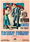 "Movie Posters:Romance, Roman Holiday (Paramount, R-1960). Italian 4 - Fogli (55"" X 78"") Ercole Brini Artwork.. ..."