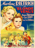 "Movie Posters:Drama, Blonde Venus (Paramount, 1932). French Grande (44.5"" X 60.5"") C.Venabert Artwork.. ..."