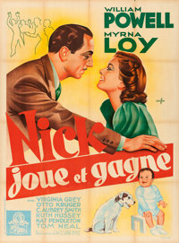 """Another Thin Man (MGM, 1939). French Grande (46.25"""" X 63"""") Boris Grinsson Artwork"""