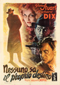"Movie Posters:Mystery, The Whistler (Columbia, 1947). First Post-War Release Italian 4 - Fogli (55"" X 77.5"") Anselmo Ballester Artwork.. ..."