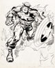 Jack Kirby and Syd Shores Captain America #109 Cover Original Art (Marvel, 1969).... (Total: 5 Items)