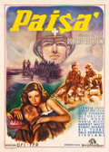 "Movie Posters:Drama, Paisan (MGM, 1946). Fine+ on Linen. Italian 2-Foglio (39.5"" X 55"").Drama.. ..."