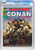 Magazines:Adventure, Savage Sword of Conan #1 (Marvel, 1974) CGC NM 9.4 Off-white to white pages....