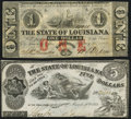 Obsoletes By State:Louisiana, Baton Rouge, LA- State of Louisiana $1 Feb. 24, 1862 Cr. 3 About Uncirculated;. Shreveport. LA- State of Louisiana $... (Total: 2 notes)