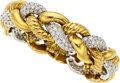 Estate Jewelry:Bracelets, Diamond, Gold Bracelet, Rosenthal. ...