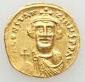 Ancients:Byzantine, Ancients: Constans II Pogonatus (AD 641-668). AV solidus (19mm,4.38 gm, 6h). XF, clipped, scratches....