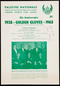 Boxing Collectibles:Autographs, Signed 1963 25th Anniversary Golden Gloves Program by Zora Folley....