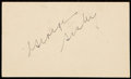 Autographs:Post Cards, 1951 George Sisler Signed Government Postcard. ...