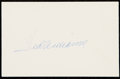 Autographs:Post Cards, 1985 Ted Williams Signed Government Postcard. ...