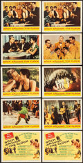 """Movie Posters:Rock and Roll, Rock Around the Clock (Columbia, 1956). Lobby Card Set of 8, TitleCard, & Lobby Card (11"""" X 14""""). Rock and Roll.. ... (Total: 10Items)"""