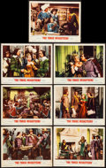 "Movie Posters:Swashbuckler, The Three Musketeers (MGM, R-1956). Lobby Cards (7) (11"" X 14""). Swashbuckler.. ... (Total: 7 Items)"