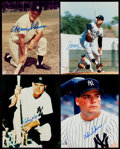 Autographs:Photos, New York Yankees Great Signed Photograph Lot of 4.... (Total: 4items)