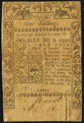 Colonial Notes:Rhode Island, Rhode Island May 1786 1s Fine.. ...