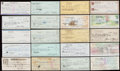 Autographs:Checks, Baseball Greats Signed Check Lot of 24.... (Total: 24 items)