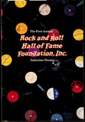 Miscellaneous Collectibles:General, 1986 First Annual Rock and Roll Hall of Fame Induction DinnerProgram....