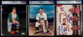 Autographs:Photos, Baseball Hall of Fame Signed Photograph Lot of 6, All PSA/DNAGraded....