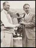 Golf Collectibles:Ephemera, c. 1930s Bobby Jones with Trophy Vintage Photograph....