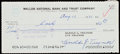 Autographs:Checks, 1971 Pie Traynor Signed Check - Cashed in Cooperstown After Induction Ceremonies....