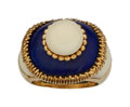 Estate Jewelry:Rings, Coral, Lapis Lazuli, Gold Ring, French The rin...