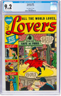 "Golden Age (1938-1955):Romance, Lovers #33 Davis Crippen (""D"" Copy) Pedigree (Atlas, 1951) CGC NM-9.2 Off-white to white pages...."