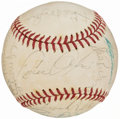 Autographs:Baseballs, 1974 Kansas City Royals Team Signed Baseball (18 Signatures)....
