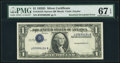 Error Notes:Inverted Third Printings, Fr. 1613N $1 1935D Silver Certificate. PMG Superb Gem Unc 67 EPQ.. ...