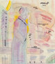 Peter Max (American, b. 1937) Woman Standing Mixed media on paper 8-1/2 x 7-1/4 inches (21.6 x 18.4 cm) (sight) Sign...