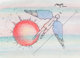 Peter Max (American, b. 1937) Icarus Watercolor, ink, and crayon on paper 6-1/2 x 9 inches (16.5 x 22.9 cm) (sight)...