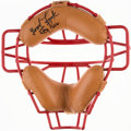 Baseball Collectibles:Uniforms, Tony Pena Signed Boston Red Sox Catchers Mask....