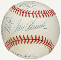 Autographs:Baseballs, 1969 New York Mets - World Series Champions - Team Signed Reunion Baseball (16 Signatures)....