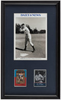 Autographs:Photos, Joe DiMaggio Signed & Framed Photograph/Card Display....