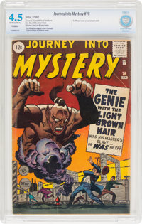 Journey Into Mystery #76 (Marvel, 1962) CBCS VG+ 4.5 Off-white to white pages