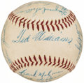 Autographs:Baseballs, 1956 Boston Red Sox Team Signed Baseball (18 Signatures)....